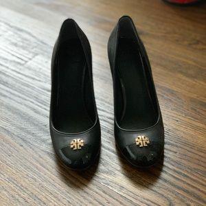 Tory Burch wedge black heels